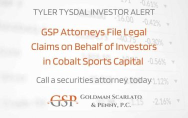 Tyler Tysdal Investor Update Investors in Cobalt Sports Capital File Legal Claims to Seek Compensation for Their Losses